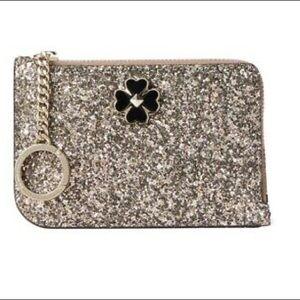 Kate Spade L-zip glitter wallet